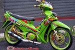 Modifikasi Extriem Motor Honda Supra X 125-2