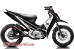 Modifikasi Extriem Motor Honda Supra X 125-5