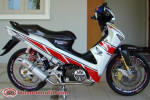 Modifikasi Extriem Motor Honda Supra X 125-9
