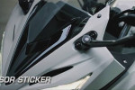 Visor Sticker All New Honda CBR150R 2016 Facelift (Rp 30.000)